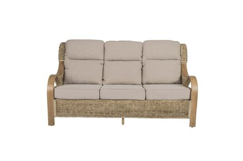 shore wicker rattan conservatory furniture large sofa