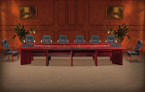 Mahogany Boardroom Table Rectangular Boardroom Table Available In Mahogany Veneer With Leather Inlays And Seats 14