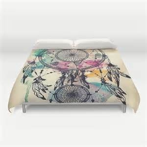 Bohemian Comforter Dream Catcher Love Duvet Cover Queen And King By Pushkastudio