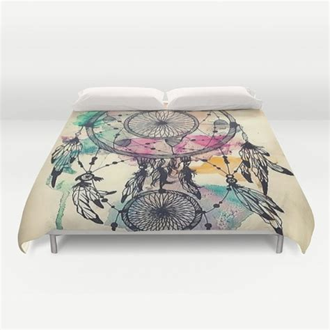 dreamcatcher bedding dream catcher love duvet cover queen and king by pushkastudio