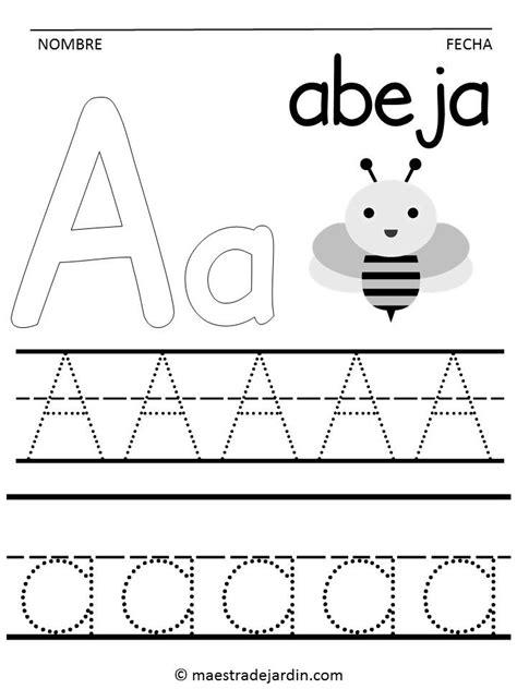 Trazos para practicar las letras   Trazos de letras