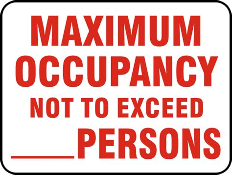 Related Keywords Suggestions For Maximum Load Capacity Sign Occupancy Sign Template