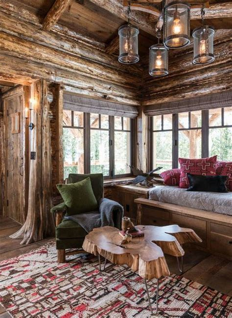 montana home decor log cabin big sky montana love the table a interior