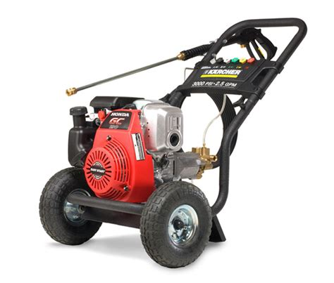 honda gas powered pressure washer karcher pro series 3000psi honda gc190 gas
