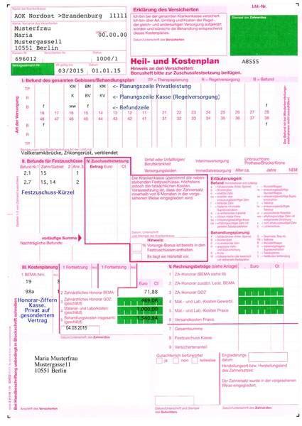 Muster Anschreiben Heil Und Kostenplan was kostet eine zahnbr 252 cke die preise im vergleich