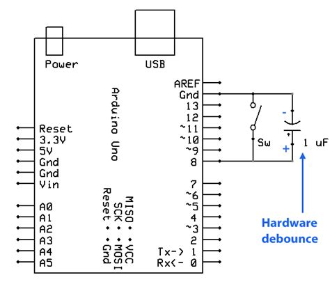 how to set up a capacitor circuit gammon forum electronics microprocessors switches tutorial