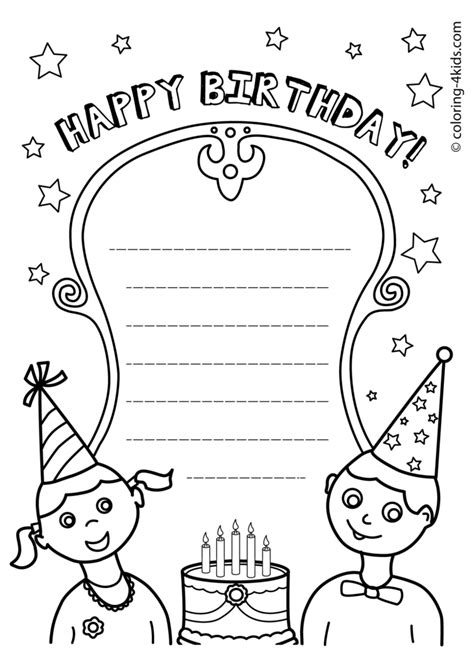birthday coloring pages for aunts coloring pages birthday coloring sheets printable happy