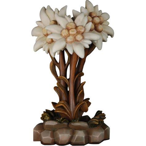 fiore stella alpina fiore di stella alpina fiori vendita scultura in legno