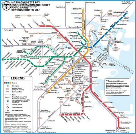 boston metro map boston subway map travelsfinders