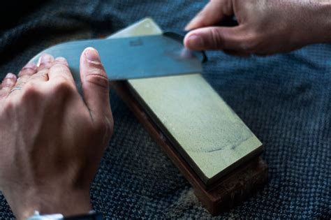 how to use sharpening stones how to use a japanese water whetstone to sharpen a