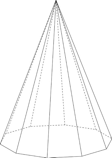 decagonal pyramid clipart