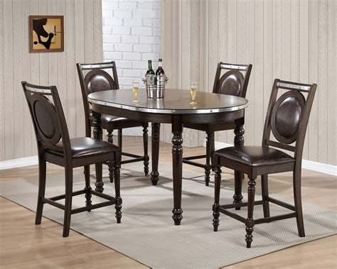 dark brown dining d4260bt counter height dining set 5pc in dark brown by global