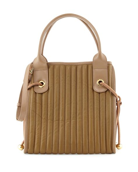 Quilted Leather Bag by See By Chlo 233 Sheen Quilted Leather Tote Bag In Beige Lyst