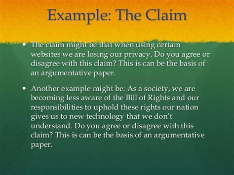 What Is A Claim In An Argumentative Essay by Argumentative Essay