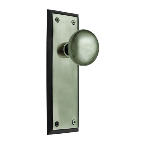 Door Knobs With Backplates by Nostalgic Warehouse New York Backplate Set With Choice Of