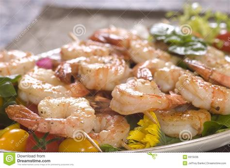 Lunch Animals Skewer shrimp on a skewer royalty free stock image image 6919436