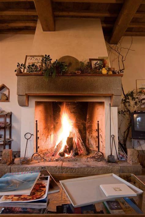 Large Open Fireplaces by La Selva Giardino Belvedere Villa In Tuscany