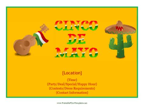 Cinco De Mayo Flyer Cinco De Mayo Template