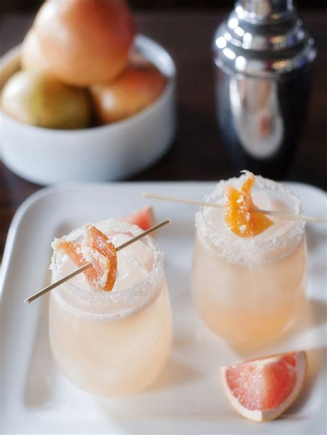 candied grapefruit cocktail summer cocktail candied