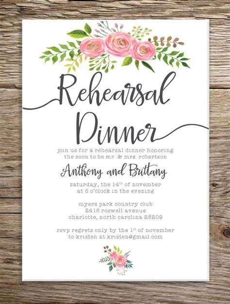 rehearsal dinner invitation template free rehearsal dinner invitation template gangcraft net