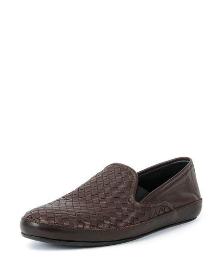 Clutch Bottega Line Brown bottega veneta woven leather skate shoe brown neiman