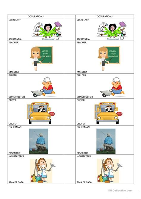 free printable english worksheets occupations occupations worksheet free esl printable worksheets made