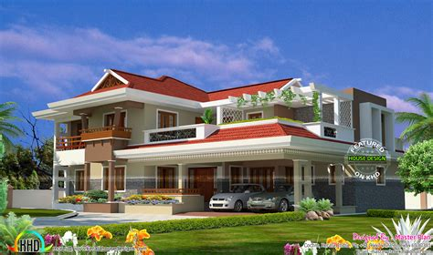 1 crore home 4700 square kerala home design