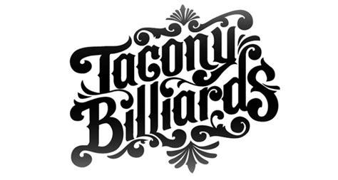 Handmade Typography - custom typography tacony billiards eric waetzig