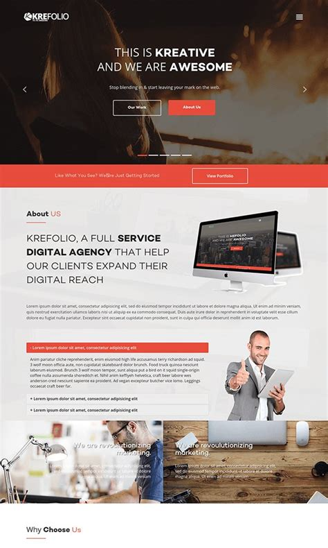 startup landing page template 26 best free bootstrap html5 website templates february