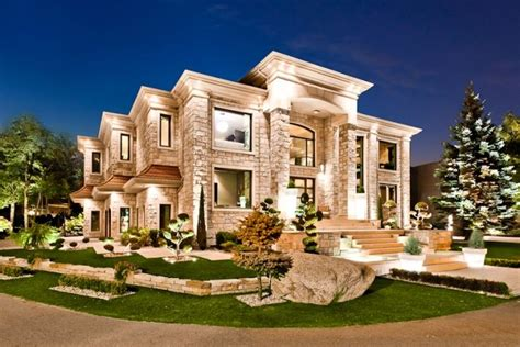 beautiful mansions modern masterpiece 4 598 000 mansion exterior night