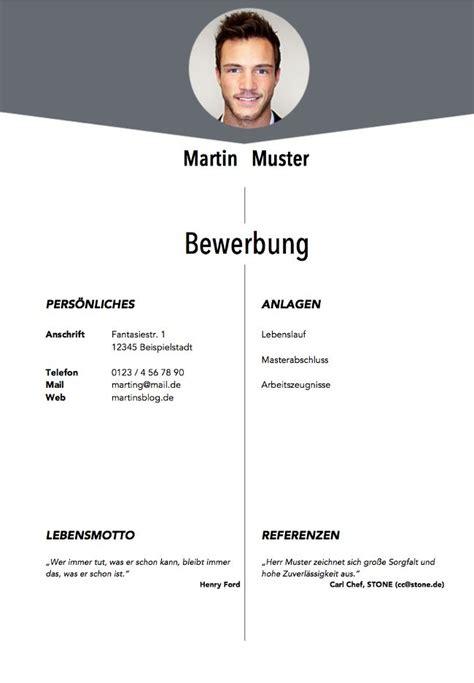 Lebenslauf Vorlagen Mit Deckblatt best 25 vorlage deckblatt bewerbung ideas on