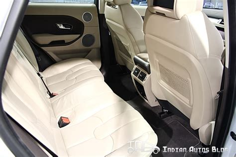 range rover evoque back seat space range rover evoque pictorial review from launch floor