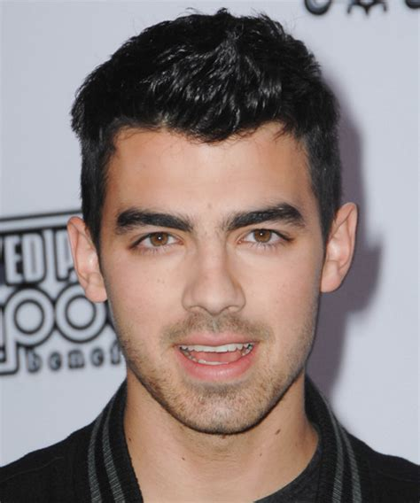 Joe Jonas Short Straight Casual Hairstyle   Black (Ash)