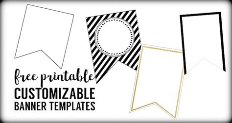 templates for party banners free printable banner templates blank banners paper