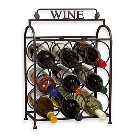 wine rack bed bath and beyond buy vintage 9 bottle wine rack from bed bath beyond