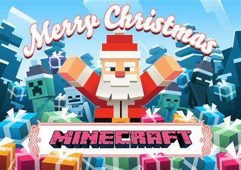 imagenes de navidad minecraft minecraft la feliz navidad fondo de pantalla