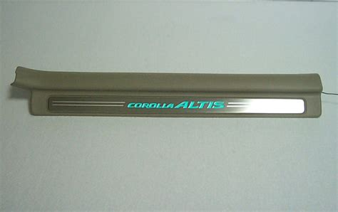 Sillplate Sing Stanless Yaris led scuff plate el door sill plate sting stainless auto accessories led