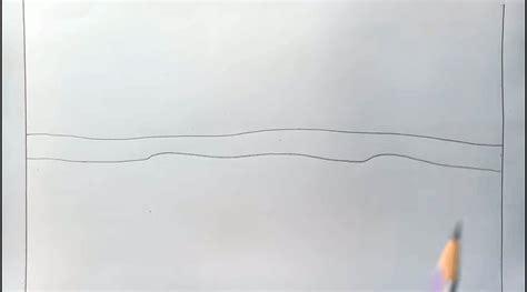 tutorial menggambar pemandangan pegunungan cara menggambar alam pegunungan untuk anak dengan pensil