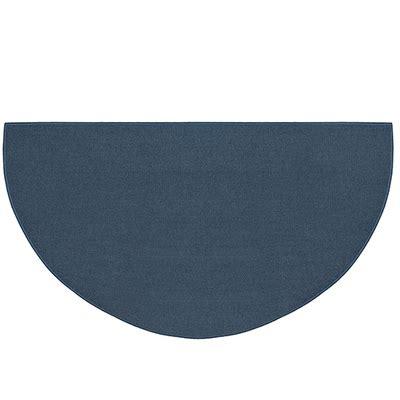 fiberglass hearth rug pictured is the 27 inch x 48 inch half blue fiberglass hearth rug manufactured in america