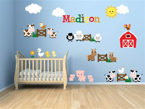 farm animal wall stickers room wall decals farm wall decals farm animal decals
