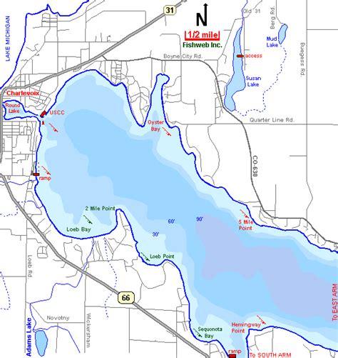 round lake laingsburg mi boat rental lake charlevoix map west arm charlevoix county michigan