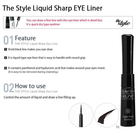 Eyeliner Liquid Vologn Made In Korea missha the style liquid sharp eyeliner 6g hermo