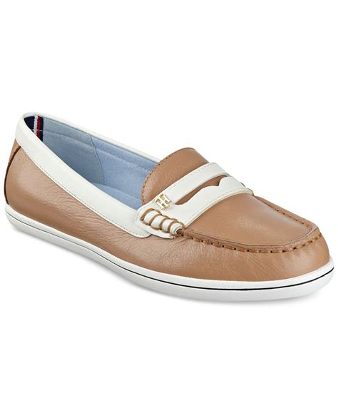 hilfiger womens loafers hilfiger s butter loafers in brown lyst