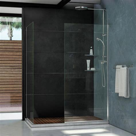 Semi Framed Shower Door Dreamline Linea 34 In X 72 In And 30 In X 72 In Semi Framed Shower Door In Chrome Shdr