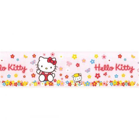 jual border wallpaper hello kitty fun4walls hello kitty official pink wallpaper border 10m