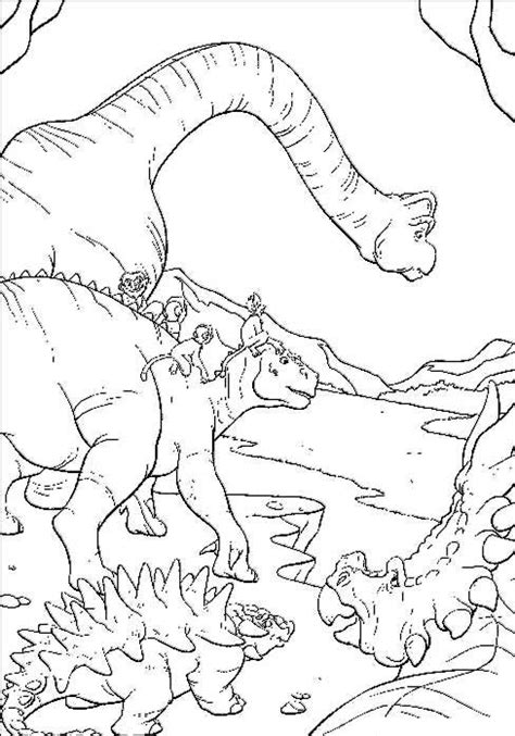 dinosaur jungle coloring page dibujos para colorear de dinosaurio