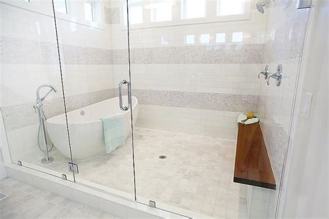 walk in shower with tub tub in front of walk in shower design ideas