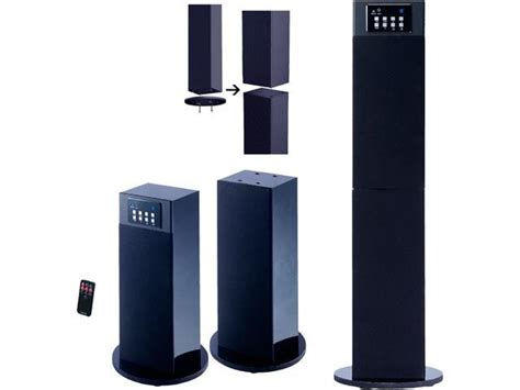 craig chtc stereo home theater tower speaker system