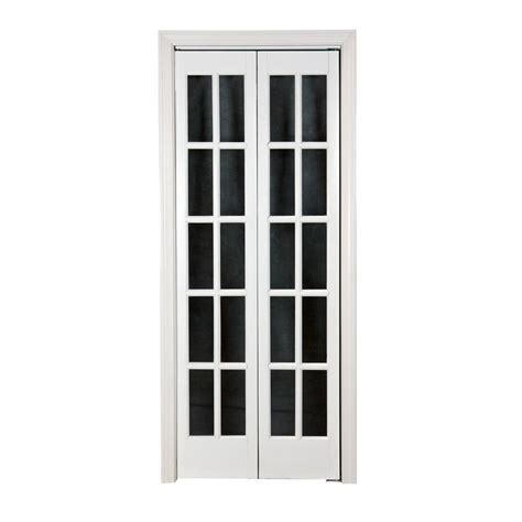 Shop Pinecroft 10 Lite French Solid Core Pine Bifold 24 Closet Door