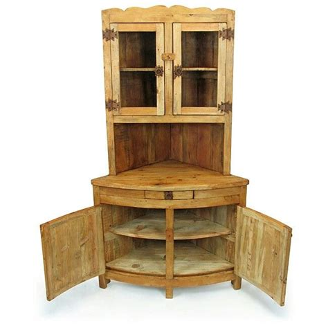 rustic corner china cabinet rustic pine corner hutch diy diy this
